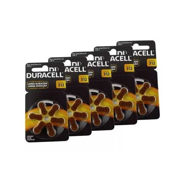pilas duracell activeair 312pk30